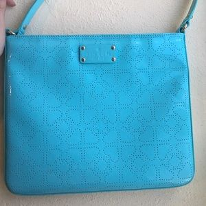 kate spade teal darby crossbody purse